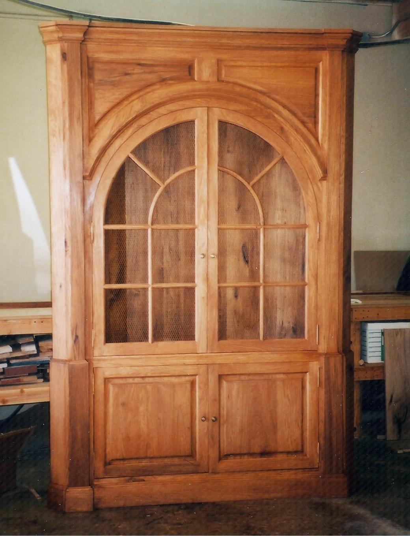 Butternut Corner Cabinet