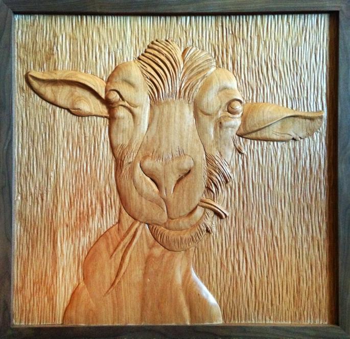 Goat - Alder 21.25 x 20.5