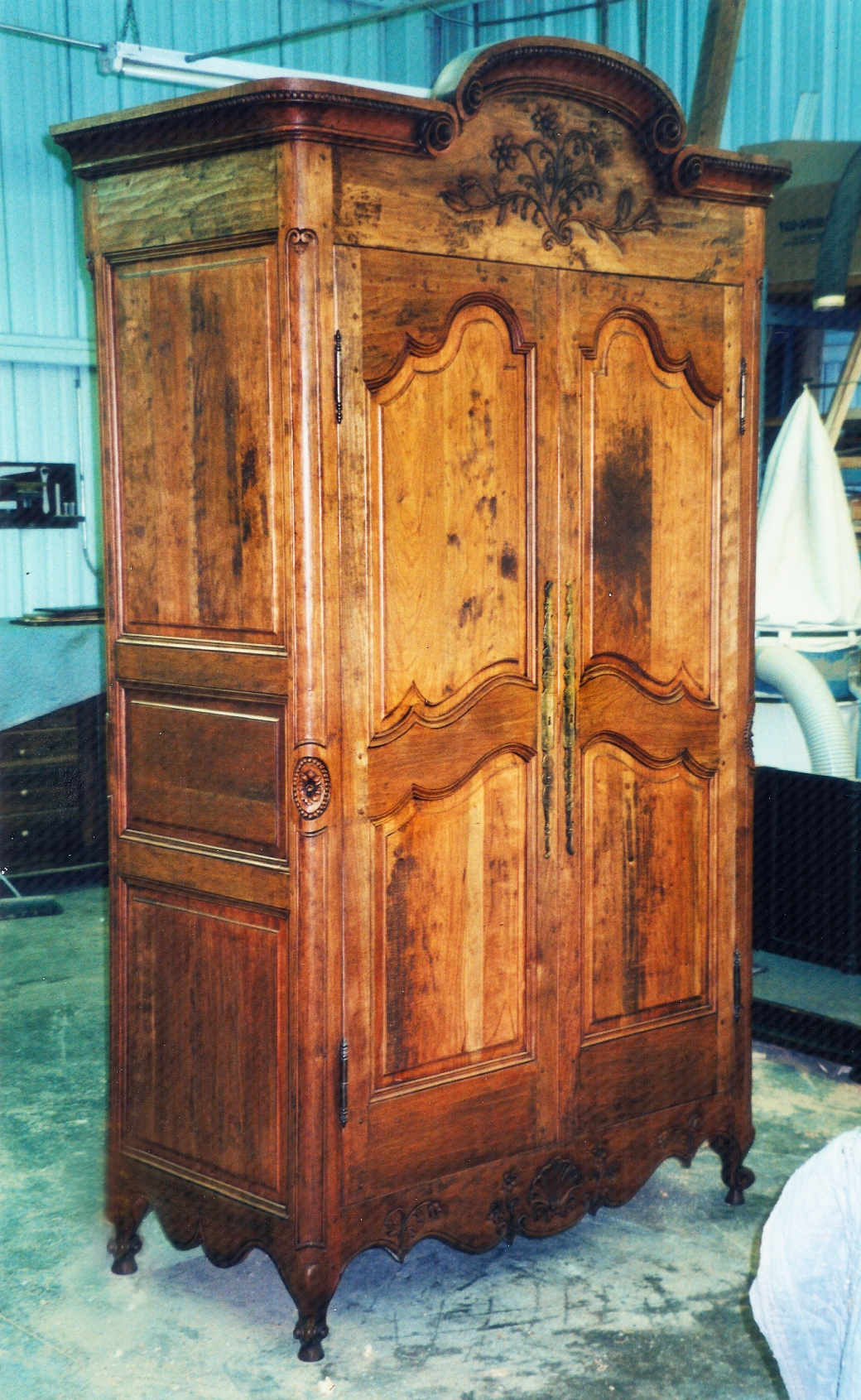 Rustic 18th Century Cherry Armoire (2)