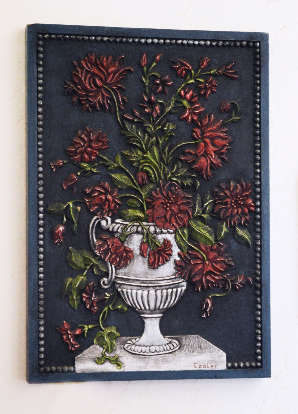 Still Life Flowers - Painted Mahogany - 18 x 26